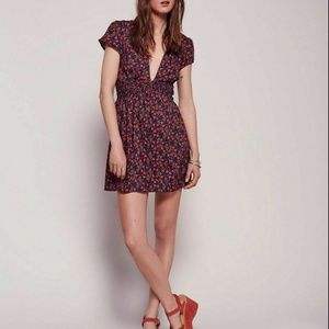 Free People Liberty Red Floral Printed Dress S